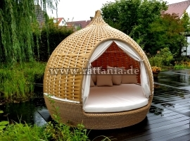 Gartenmuschel Sonneninsel Rattan Relaxinsel Lounge Insel