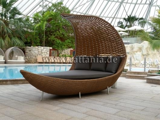 Rattan Lounge Saunaliegen Bäderliege Sonnenliege Rattanmöbel